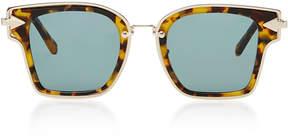 Karen Walker Rebellion Square-Frame Acetate and Metal Sunglasses