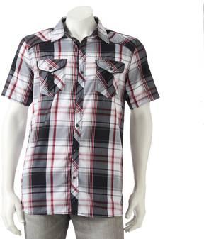Burnside Men's Plaid Button-Down Shirt