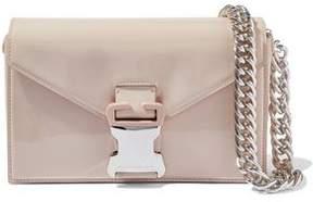 c95f3f3ade ... Christopher Kane Devine Chain-Trimmed Patent-Leather Shoulder Bag