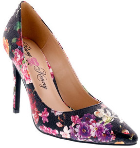 Penny Loves Kenny Women's Opus Metallic Floral Pointed Toe Pump