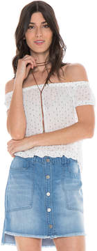 Bella Dahl Off Shoulder Top-White-XS