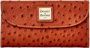 Dooney & Bourke Ostrich Continental Clutch - COGNAC - STYLE