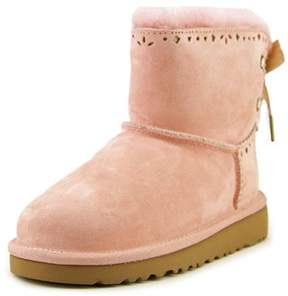 UGG Dixi Flora Youth Round Toe Suede Winter Boot.