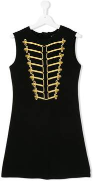 John Richmond Kids TEEN cornelli braid trim dress