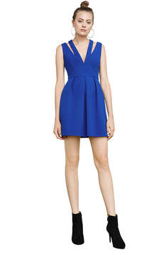 BCBGMAXAZRIA Clayre Double-Strap Pleated Dress