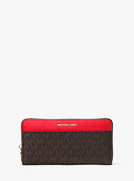 Michael Kors Mercer Logo Continental Wallet - RED - STYLE