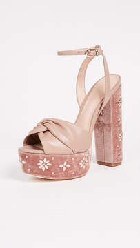 Rachel Zoe Claudette Crystal Platform Sandals