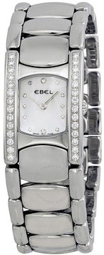 Ebel Beluga Manchette Pearl Dial Diamond Bezel Ladies Watch