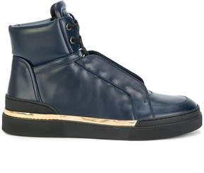 Balmain side panel hi-top sneakers