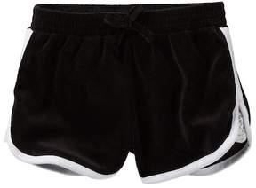 Juicy Couture Black Lace Inset Velour Shorts (Little Girls)