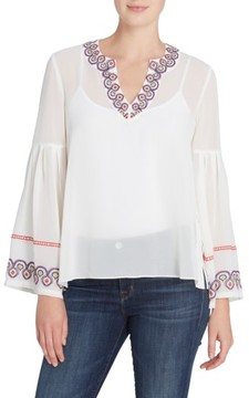 Catherine Malandrino Women's Margaret Embroidered Blouse