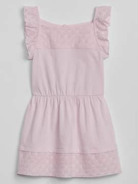 Gap Eyelet Ruffle Dress