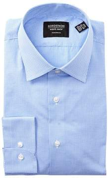 Nordstrom Mini Checkered Print Traditional Fit Dress Shirt