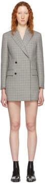 Calvin Klein Black and White Plaid Short Blazer Dress