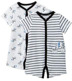 Little Me Zebra Rompers - Pack of 2 (Baby Boys)