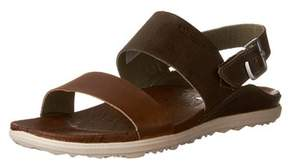Merrell Womens Around Town Leather Open Toe Casual Slingback Sandals.