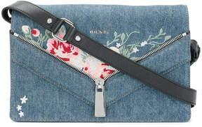 Diesel embroidered denim shoulder bag