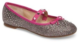 Vince Camuto Girl's Pietra Embellished Mary Jane Flat