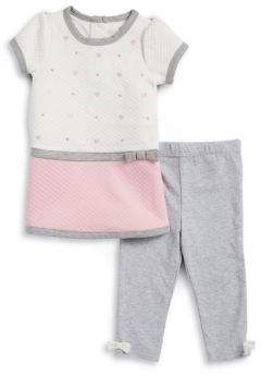 Little Me Baby Girl's Quilted Tunic and Leggings Set