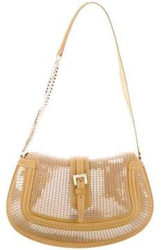 Tod's Leather-Trimmed Evening Bag
