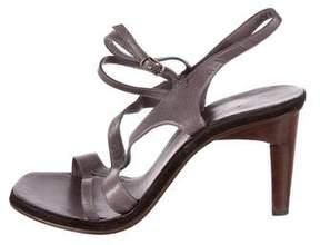 CNC Costume National Leather Slingback Sandals