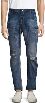 One Teaspoon Men's Mr. Golds Straight Fit Fading Jeans