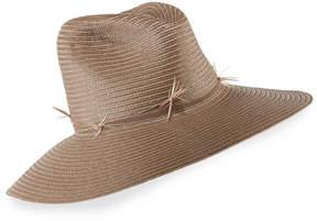 Neiman Marcus Gigi Burris Drake Straw Fedora Hat