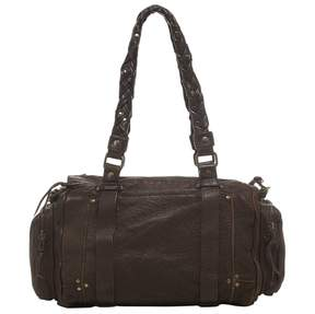 Jerome Dreyfuss Brown Leather Handbag Raoul