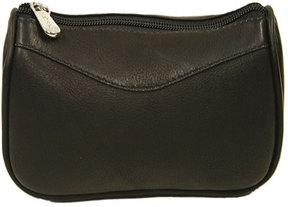 Women's Piel Leather Carry-All Zip Pouch 2845