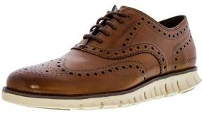 Cole Haan Men's Zerogrand Wing Oxford British Tan Ankle-High Leather Shoe - 11M