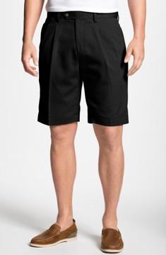 Cutter & Buck Men's Big & Tall Double Pleated Microfiber Twill Shorts