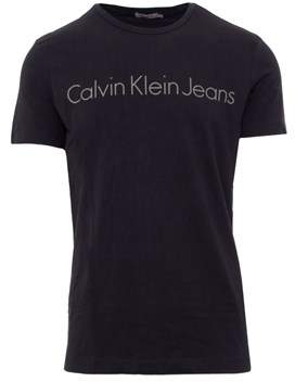 Calvin Klein Jeans Men's Black Cotton T-shirt.