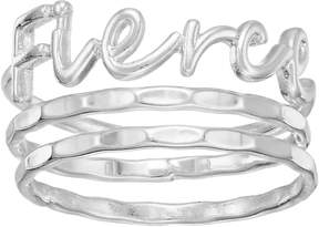 Lauren Conrad Fierce Script Ring Set