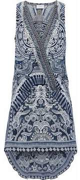 Camilla Small Town Hero Wrap-Effect Embellished Printed Silk Dress