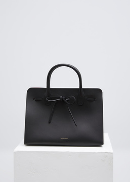 Mansur Gavriel black / flamma sun bag