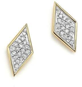 Adina 14K Yellow Gold & Pavé Diamond Tiny Stud Earrings