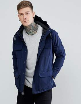 Penfield Kasson Parka Jacket Hooded Fleece Lined in Navy