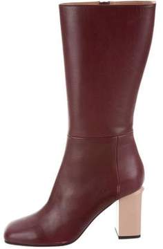 Marni Leather Mid-Calf Boots w/ Tags