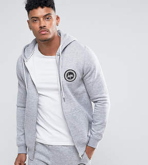 Hype Zip Up Hoodie With Crest Logo