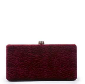 Sole Society Lyn Exotic Velvet Box Clutch