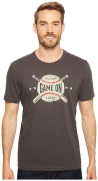 Life is Good Game On Baseball Crusher Tee Men's T Shirt