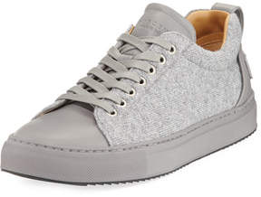 Buscemi Men's Lyndon Wool & Leather Low-Top Sneakers
