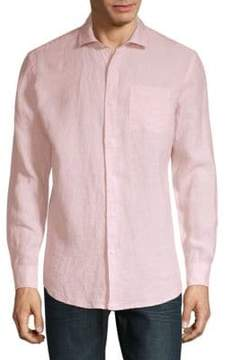 Saks Fifth Avenue Classic-Fit Linen Casual Button-Down Shirt