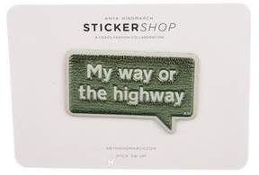 Anya Hindmarch My Way Leather Sticker w/ Tags