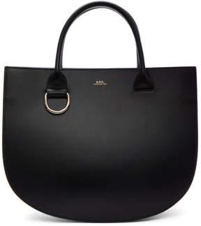 A.P.C. Black Leather Marion Bag