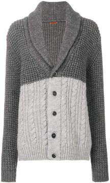 Barena shawl lapel tonal cardigan