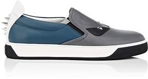 Fendi Men's Spiked Buggies Leather Slip-On Sneakers