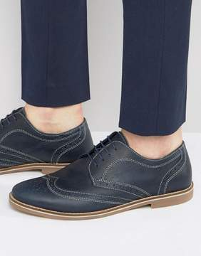 Red Tape Brogues In Navy