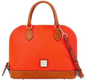 Dooney & Bourke Pebble Grain Zip Zip Satchel - GERANIUM - STYLE