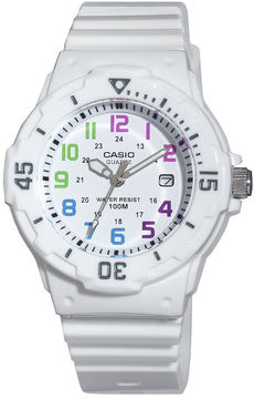 Casio Womens White Resin Strap Diver Sport Watch LRW200H-7BV